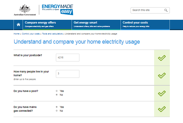 compare your home electricity usage